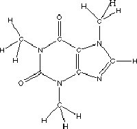 Figure 1. Chemical Structure of Caffeine (1,3,7-trimethylxanthine) by Michael Allen Smith (CC 2.0)