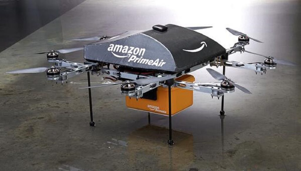 Figure 2. Amazon drones: Doomed to second-rate, silver-medal delivery technique before it had a chance to even debut.*