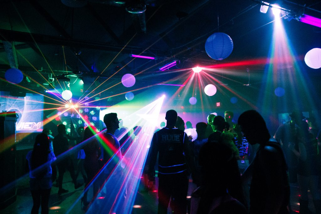 Dance club. Photo by Kevin Coropassi, CC BY-ND 2.0